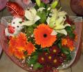 Μπουκέτο Λουλουδιών σε Εντονες Αποχρώσεις