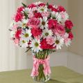 Μπουκέτο λουλούδια με χρώμα