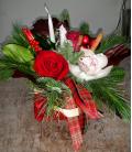 Τριαντάφυλλα και συμπίτιουμ σε τσαντάκι