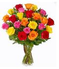 Various roses in vase
