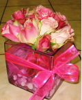 Bouquet of Pink Roses into Jelly