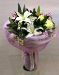 Λευκό Ρόζ Απαλό - Μπουκέτο εποχής