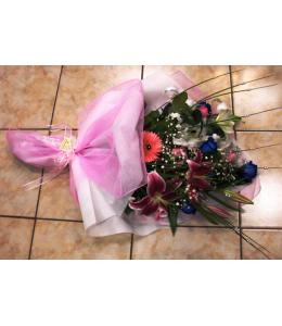 Τριαντάφυλλα μπλέ ανθοδέσμη