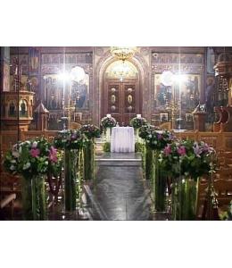 Στολισμός Γάμου Εσωτερικού Εκκλησίας με Οριεντάλ