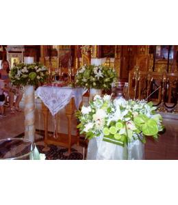 Στολισμός Λαμπάδας Γάμου με Τριαντάφυλλα Ταλέα