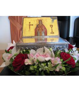 Στολισμός λειψάνων της Αγίας Βαρβάρας