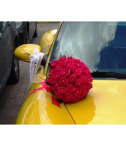 Νυφική Ανθοδέσμη με φούξια τριαντάφυλλα