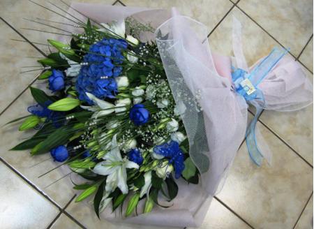 Μπλέ ορτανσία , Μπλέ τριαντάφυλλα , Λυσίανθος και Οριεντάλ