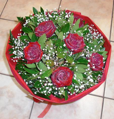 Μπουκέτο με Κόκκινα Τριαντάφυλλα Πάσιον