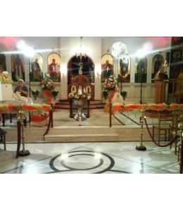 Γυρλάντα βάπτισης με ανθοστήλες
