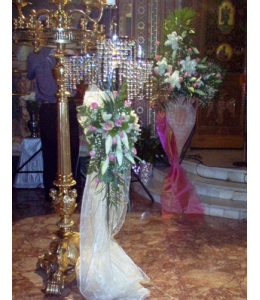 Adornment for the Wedding Candle - Floor Lamp and Flower Arrangement