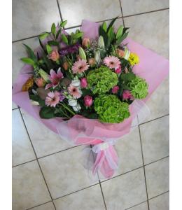 Οριεντάλ τριαντάφυλλα ανθοδέσμη ζέρμπερες