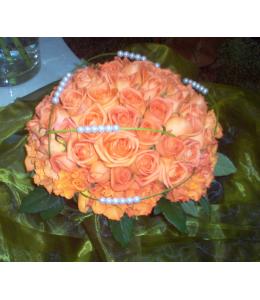 Μπουκέτο Λουλούδια με στύλ Νυφικό