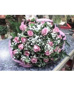 Μπουκέτο Λουλούδια με Ακουα Τριαντάφυλλα