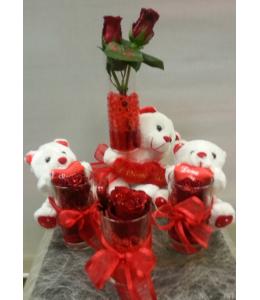 Αρκουδάκια με Τριαντάφυλλα